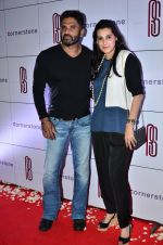 Sunil Shetty, Mana Shetty at Rohit Sharma_s bash in Palladium on 20th Nov 2014 (38)_5470773b2381b.JPG