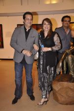 Fardeen Khan, Zarine Khan at camel colours exhibition in Jehangir Art Gallery, Mumbai on 1st Dec 2014 (15)_547d80b6575b8.JPG
