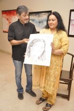 Amol Palekar, Vidya Sinha at Amol Palekar_s painting exhibition in Mumbai on 7th Dec 2014 (39)_5485b2c8af408.JPG