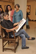 Bindiya Goswami, Amol Palekar, Sandhya Ghokle at Amol Palekar_s painting exhibition in Mumbai on 7th Dec 2014 (6)_5485b2cf98bab.JPG
