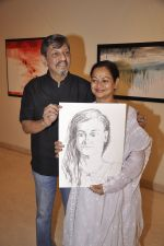Zarina Wahab, Amol Palekar at Amol Palekar_s painting exhibition in Mumbai on 7th Dec 2014 (17)_5485b2d1bb1be.JPG