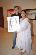 Zarina Wahab, Amol Palekar at Amol Palekar_s painting exhibition in Mumbai on 7th Dec 2014 (19)_5485b2d284bdd.JPG