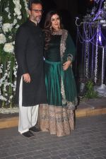 Raveena Tandon, Anil Thadani at Sangeet ceremony of Riddhi Malhotra and Tejas Talwalkar in J W Marriott, Mumbai on 13th Dec 2014 (414)_548ec54b82256.JPG