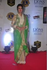 Shafaq Naaz at the 21st Lions Gold Awards 2015 in Mumbai on 6th Jan 2015 (253)_54acf607737d9.jpg