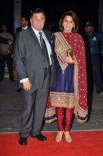 Rishi Kapoor, Neetu Singh at Kush Wedding Reception in Sahara Star, Mumbai on 19th Jan 2015 (142)_54be16e65155f.JPG