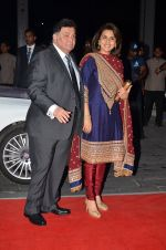 Rishi Kapoor, Neetu Singh at Kush Wedding Reception in Sahara Star, Mumbai on 19th Jan 2015 (144)_54be16e80fb7c.JPG