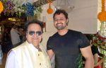 Bappi Lahiri and Mudasir Ali at Bappi Lahiri_s Saraswati Puja_54c6133781839.jpg