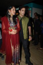 Kush Sinha with wife at the Premiere of Hawaizaada in Mumbai on 29th Jan 2015 (27)_54cb42a43c0ef.jpg