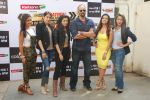 Rashmi Desai, Sagarika Ghatge, Riddhi Dogra, Rohit Shetty, Sana Khan, Asha Negi at Khatron Ke Khiladi press meet in Mumbai on 29th Jan 2015 (267)_54cb460971481.jpg