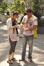 Juhi Babbar, Anup Soni at Shabana Azmi_s holi bash in Mumbai on 5th March 2015 (68)_54f9b78cdf9d9.JPG