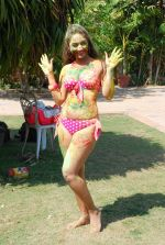 Marisa Verma bikini holi shoot on 5th March 2015 (56)_54f9789a1bad1.JPG
