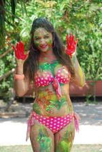 Marisa Verma bikini holi shoot on 5th March 2015 (59)_54f978a0982b9.JPG