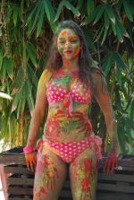 Marisa Verma bikini holi shoot on 5th March 2015 (69)_54f978b1a4613.JPG