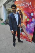 Taaha Shah at mahesh Bhatt launches Zahara productions Barkhaa Trailor on 5th March 2015 (6)_54f9a3408a4f6.JPG