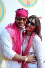Deepshikha, Kaishav Arora at Zoom Holi Bash in Mumbai on 6th March 2015 (168)_54fac3db4f236.JPG