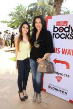 Pooja Bedi with daughter at India Today Body Rocks in J W Marriott on 15th March 2015