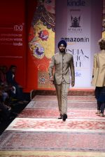 Model walk the ramp for JJ Valaya on day 1 of Amazon India Fashion Week on 25th March 2015 (204)_5513d00ab4371.JPG