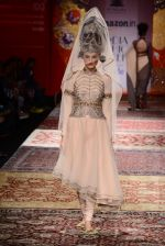 Model walk the ramp for JJ Valaya on day 1 of Amazon India Fashion Week on 25th March 2015 (35)_5513cd988093b.JPG