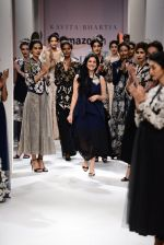Model walk the ramp for Kavita Bhartia on day 1 of Amazon India Fashion Week on 25th March 2015 (326)_5513d3020c513.JPG