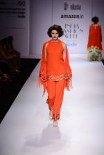 Model walk the ramp for Nikasha on day 1 of Amazon India Fashion Week on 25th March 2015 (87)_5513d2cee7958.JPG