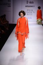 Model walk the ramp for Nikasha on day 1 of Amazon India Fashion Week on 25th March 2015 (88)_5513d2d0aa352.JPG