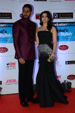 Abhishek Bachchan, Aishwarya Rai Bachchan at HT Mumbai_s Most Stylish Awards 2015 in Mumbai on 26th March 2015 (1112)_55154273d5db1.JPG