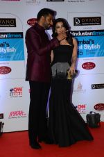 Abhishek Bachchan, Aishwarya Rai Bachchan at HT Mumbai_s Most Stylish Awards 2015 in Mumbai on 26th March 2015 (1134)_5515428244e36.JPG