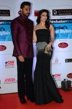 Abhishek Bachchan, Aishwarya Rai Bachchan at HT Mumbai_s Most Stylish Awards 2015 in Mumbai on 26th March 2015 (1148)_55154289adcce.JPG