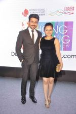 Neha Lakshmi Iyer, Dheeraj Dhoopar at Sasural Simar ka team at HK Tourism event in Four Seasons, Mumbai on 9th April 2015 (38)_55279d907e5e6.JPG