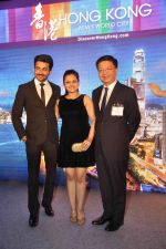 Neha Lakshmi Iyer, Dheeraj Dhoopar at Sasural Simar ka team at HK Tourism event in Four Seasons, Mumbai on 9th April 2015 (42)_55279d91a40d2.JPG
