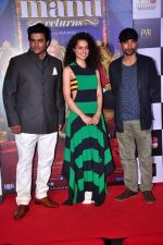 Deepak Dobriyal, Kangna Ranaut, R Madhavan at the First Look launch of Tanu Weds Manu 2 on 14th April 2015 (55)_552e4c1473f5c.JPG