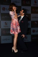 Nargis Fakhri, Anil Kapoor at LG phone launch in J W Marriott on 30th April 2015