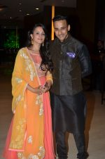 Anita Hasnandani with her husband at Karan Patel and Ankita Engagement and Sangeet Celebration in Novotel Hotel, Juhu on 1st May 2015