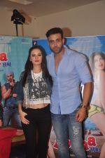 Evelyn Sharma and Navdeep Chabbra at Kuch Locha Hain promotions in andheri, Mumbai on 2nd May 2015