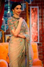 Deepika Padukone in Sabyasachi on the sets of comedy Nights with Kapil on 4th May 2015