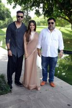 Sunny Leone, Ram Kapoor, Navdeep Chhabra in Delhi for film promotions of Kuch Kuch Locha Hai on 4th May 2015