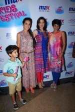 Tara Sharma, Mandira Bedi, Aditi Gowitrikar at Max kids fashion show in Mumbai on 5th May 2015