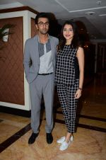 Ranbir Kapoor and Anushka Sharma at Bombay Velvet game launch in Mumbai on 7th May 2015