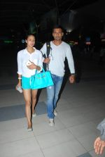 Barkha Bisht, Indraneil Sengupta snapped as they return from Kolkata on 8th May 2015