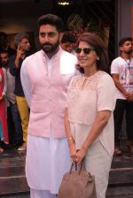 Abhishek Bachchan, neetu Singh at Shashi Kapoor felicitation at Prithvi theatre in Mumbai on 10th May 2015 (162)_554f55e06d6ee.JPG