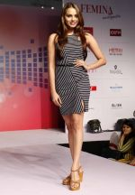 Gail Nicole Da Silva walking the Ramp at _Femina Festive Showcase May 2015_.5