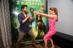 Lauren Gottlieb, Jackky Bhagnani at Welcome to Karachi promotions in Honey Homes on 13th May 2015