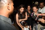 Aishwarya Rai Bachchan, Brinda Rai leave for Cannes Film Festival on 14th May 2015  (16)_5555b74c4b4df.JPG
