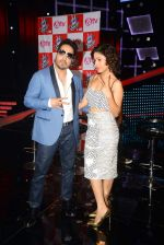 Mika Singh, Sunidhi Chauhan at The Voice launch in Mumbai on 19th May 2015
