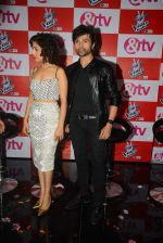 Sunidhi Chauhan, Himesh Reshammiya at The Voice launch in Mumbai on 19th May 2015