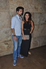 Huma Qureshi, Saqib Saleem at tanu weds manu 2 screening in Mumbai on 20th May 2015 (19)_555da0015332d.JPG
