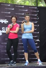 Jacqueline Fernandez snapped at a fitness shoe launch in Tote, Mumbai on 20th May 2015