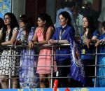 Anjali Tendulkar cheering Mumbai Indians on 24th May 2015