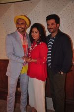 Ranveer Singh, Shefali Shah, Anil Kapoor at the Media meet of Dil Dhadakne Do in Mumbai on 26th May 2015