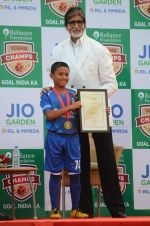 Amitabh Bachchan at the launch of Reliance Foundations Jio Gardens and organises Young Champs Football match on 27th May 2015
